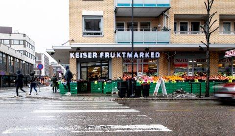 BLE STENGT: Mattilsynet fattet hastevedtak for stenging av deler av Keiser fruktmarked.