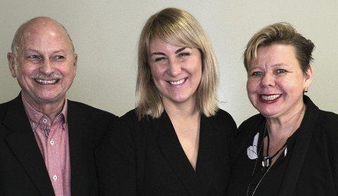 TOPP TRE: Roger Ryberg, Tonje Brenna og Siv Henriette Jacobsen er toppkandidatene til Viken Arbeiderparti ved høstens valg.