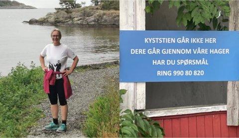 UVELKOMMEN: Vibeke Bøe og venninnen følte seg ikke akkurat velkommen når de skulle utforske nye Asker.