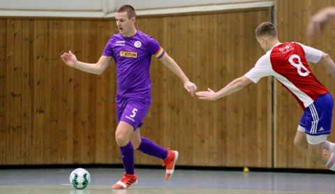 BLE SKADET: Sandefjord Futsals kaptein, Daniel Bertrand Bjørvik Power (30), måtte stå over halve sesongen på grunn av skade. Han kunne imidlertid glede seg over at laget, med en tynn tropp, beholdt plassen i eliteserien.