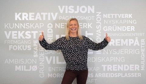 Daglig leder i Gründeriet Benedicte Eian Iversen er glad for at det er mange modige gründere i Sandefjord.