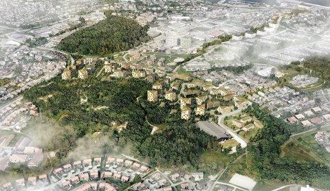 VISJON: Vår visjon er å forene den planlagte bebyggelsen og naturen i en samlet helhetsplan, som skaper en gjensidig berikelse både i og utenfor Varatunparken, heter det i dette arkitektforslaget som ble presentert fredag.