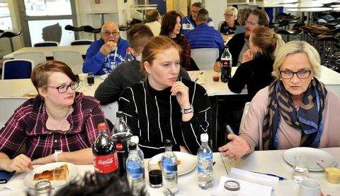 Engasjerte: Marianne Pettersen, Martine Andersen og Ellen Bjørnsen.