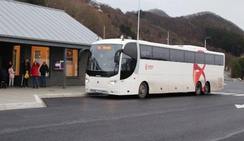 BUSSTALL: Bussene blir mye brukt, viser tall fra Kolumbus.