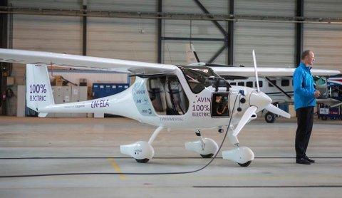 FØRST: Alle de 10 elflyene skal stasjoneres på Notodden. Pilot Flight Academy er først i Europa på en bevisst strategi for elfly