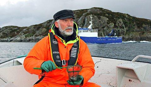 UNDERSØKER TORSK: Forsker Terje van der Meeren på feltarbeid utenfor Smøla.