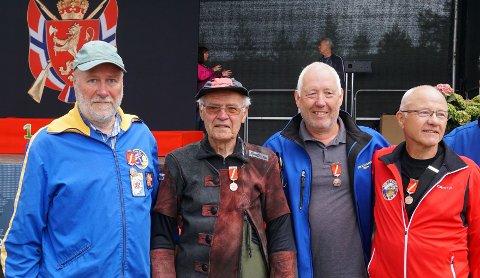 BRONSELAGET: Vestfolds lag som kom på pallen i lagskytingen. Fra venstre Sven Idland, Yngvar Vataker, Stein Rui og Dagfinn Johnsen.