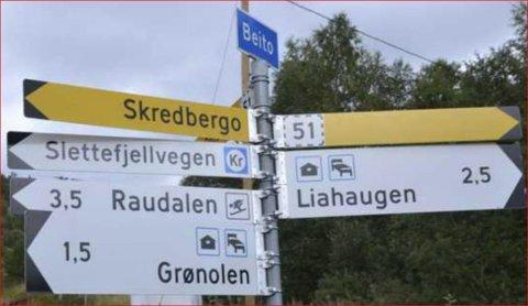 Penger til veg: Beitovegen mellom Mørken og Skredbergo er blant vegene som skal få ekstramidler til vedlikehold.
