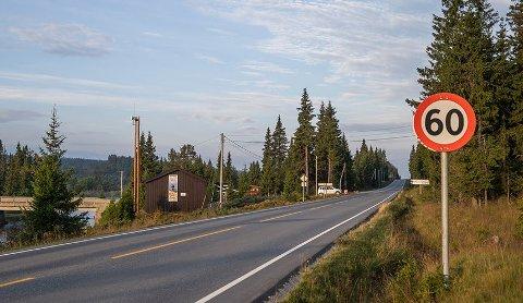 KONTROLL: Her på fylkesveg 51 over retning Gol var det fartskontroll denne uka.