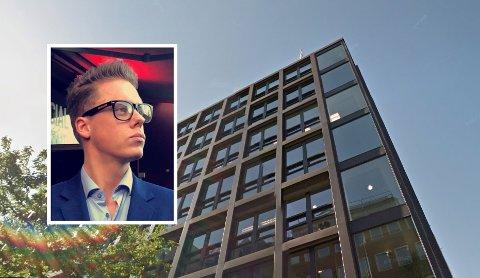 NY JOBB: Axel Stensholt Heiberg fra Nøtterøygleder seg til å ta fatt på jobben som sjef på nye Hotel Verdandi Oslo.