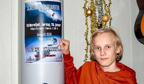 SKAFFET MIDLER: Casper Ruud (15) skrev søknad og skaffet 20.000 kroner til alpinturen til Norefjell for ungdomsklubbene Rudolf og Midtgard.