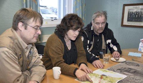FELLES INTERESSE: Ordfører Milly Bente Nørsett (Ap) flankert av Trygve W. Moxness og Kurt Oddekalv i januar. ARKIVFOTO: YNGVE LIE