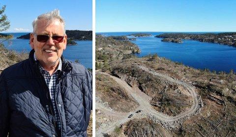 INVESTERER 30 MILLIONER: John Olav Gjelstad, styreleder i Åsvika Utvikling AS, satser stort på hyttetomter på Kallarberget ved Sandnesfjorden.