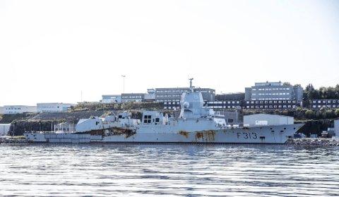 Fregatten kolliderte med et tankskip utenfor Stureterminalen i Øygarden.