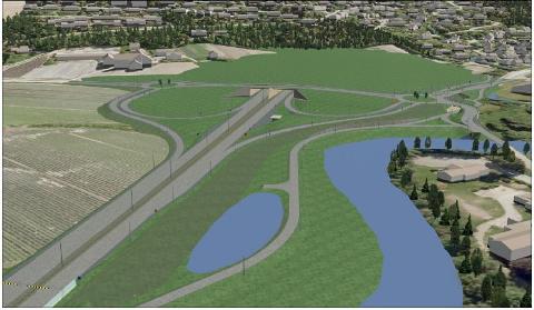 Linnes i Lier får ny tunnel og kryss, og erstatter dagens vei som går over Gullaug.