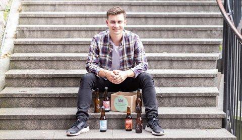 GRÜNDER: Eirik Tomter (22) fra Drøbak står bak Lokalbrygg.no.