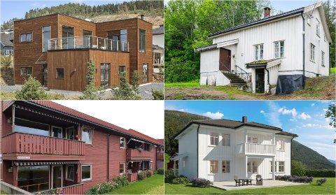 BILLIGST OG DYREST: Her er Eikers to dyreste og billigste boliger.
