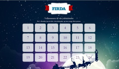 KALENDER: Kvar dag i desember kan du delta i vår adventskalender. Kan du svaret på spørsmålet erdu med i trekninga av eit gåvekort – kvar dag. I romjula trekker vi også ein større hovudpremie.