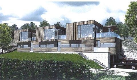 GJENGANGER: Disse planene om tre boliger i rekke i Oredalsåsen er i ferd med å bli en gjenganger hos planutvalget – og hos Fylkesmannen, som har opphevet kommunens vedtak to ganger tidligere.