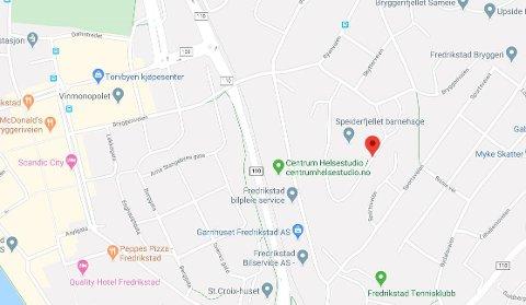 Innbrudd: Mannen som gikk inn i en bolig i Speiderveien (den røde markøren) var ruset, ifølge politiet.