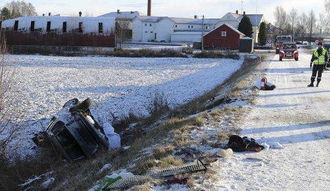 PROMILLE: Blodprøver viser at sjåføren av ulykkesbilen i hof i november, hadde 1,18 i promille. Noe han selv benekter.