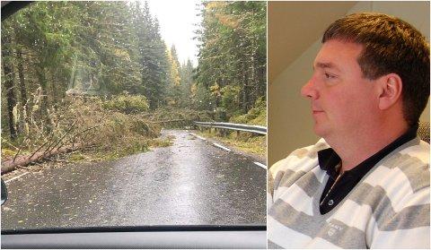 STOPP: Espen Hanserud kom hitm nen ikke lenger. 20 minutter fra Gardermoen måtte han snu.