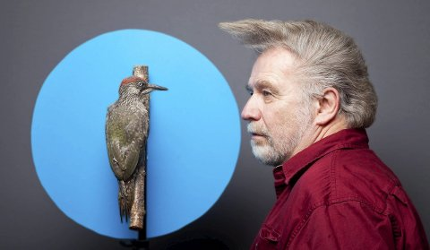 SELVPORTRETT: På direkte oppdrag fra HA, har Raymond Mosken tatt dette selvportrettet som han har kalt «Peptalk med piloten før take-off».
