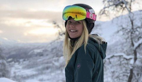 Skiglede: Etter at det gjekk godt i konkurransane i førre sesong fekk Synnøve tilbake skigleda.foto: privat