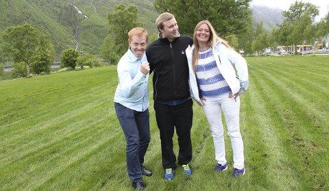 Ungt mannskap: Magnar Baisgård, Anders Salamonsen og Turid Angelica Brocks stiller til valg for Vefsn KrF. Foto: Jon Steinar Linga