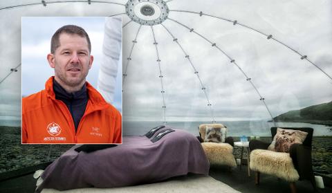 Christian Dramsdahl sier at igloen er på vei. Hvis alt går som planlagt, vil den være klar til bruk i sommer- og høstsesongen.