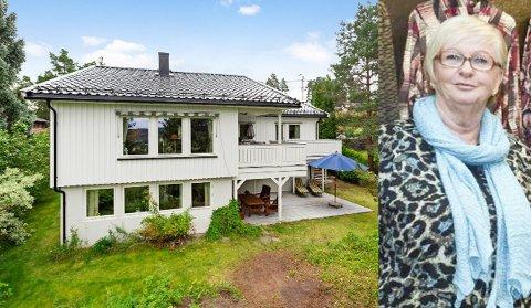 – Det har vært fantastisk å bo i Eidslia, men huset blir for stort, så nå er vi spent på salget, sier Toril Haugerud.
