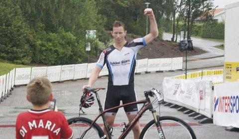 Vant: Frank Løke vant 8-topper, akkurat som han lovet.