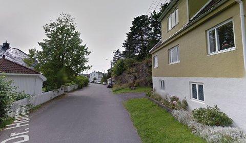 Det var et sted i denne gata at mannen skal ha krabbet. Bildet brukes som illustrasjon.