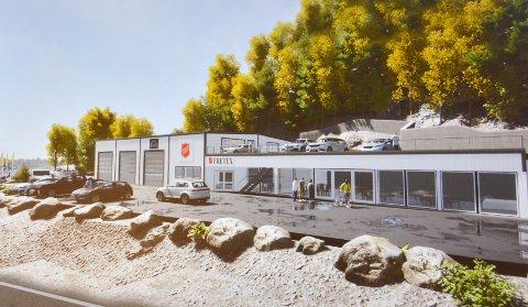Frelsesarmeen i Kragerø flytter til Dalane og åpner et salgs sted for Fretex samt en bilvaskehall.