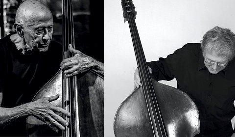 BASSISTER: Barre Phillips og Arild Andersen spiller i Sølvsalen under Kongsberg Jazzfestival.