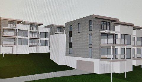 NYE BOLIGER: Slik kan leilighetsbygget i Bedehusbakken blir. Illustrasjon