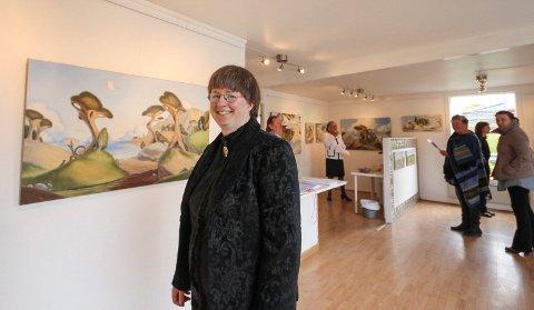 UTSTILLING: Camilla J. Erøy åpner utstilling i Hobøl på lørdag.