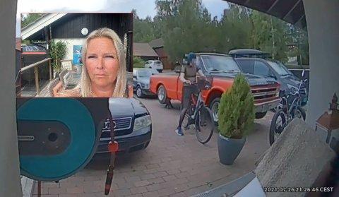 SJOKKERT: Linda Edvardsen satt bare noen få meter unna da tyveriet skjedde.