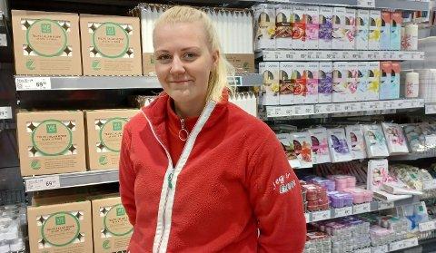 Butikksjef Hanne Kristine Rønning (23) gleder seg til åpning av ny butikk.