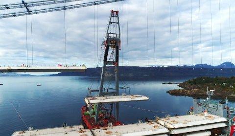 GIGANT-PROSJEKT: Hålogalandsbrua i Narvik skal etter planen stå ferdig sommeren 2018.
