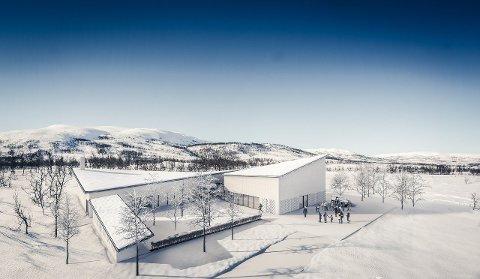 NAVN VEDTATT: Dette bygget heter nå Sállir seremonihus. Det omfatter Sállirsalen og Tromsø krematorium.