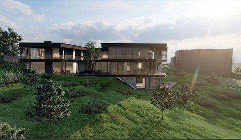 AMBISIØST: Boligprosjektet i Senjavegen på Tromsøya er blant byens mer ambisiøse boligprosjekt.