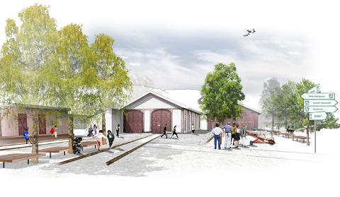 Skisse til Dokka kulturstasjon fra 2012.
