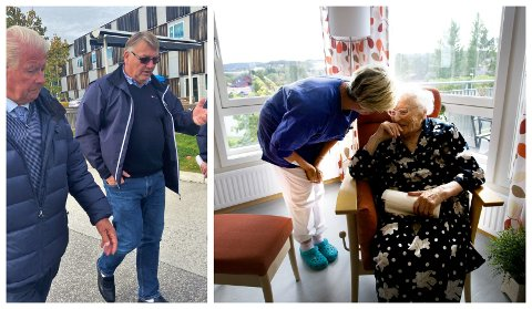 MÅ FÅ KONSEKVENSER: Frps Stig Vestlie (t.h) sammen med 1. kandidat Carl I. Hagen. Vestlie mener  det burde ha vært ryddet opp i den manglende medikamenthåndteringen i hjemmetjenesten og de ansattes varslingsrutiner.