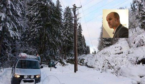 Vår avhengighet av strøm gjør oss ekstra sårbare, seier fylkesberedskapssjef Jan Helge Kaiser (innfelt).