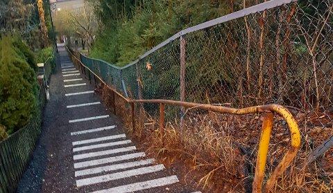 NYTT UTSEENDE: Stigen opp ved Breidablikkbakken har gjennomgått en transformasjon.