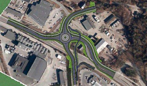 SKISSE: Fylkeskommunen ser for seg at ny rundkjøring på Moheim kan bli slik.