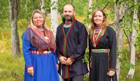 Fra venstre: Ann-Sofi Fjällström, Oskar Östergren Njajta og Marie Persson Njajta.