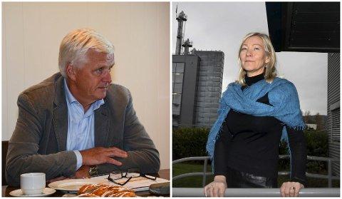 DEN GANG: Styreleder Axel Krogvig og Strand Brænderi vant søksmålet mot Hoff SA, her representert ved administrerende direktør Ingeborg Flønes.