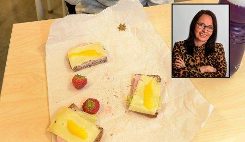 MATT AV MATPAKKER: Tre skiver med smør, uten ost men gjerne med skinke eller én skive med prim og smør klappet sammen og delt? ILLUSTRASJONSFOTO: Olaf Akselsen